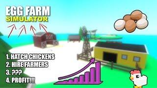 [ROBLOX] Pépin d'oeuf dans le simulateur de ferme d'oeuf