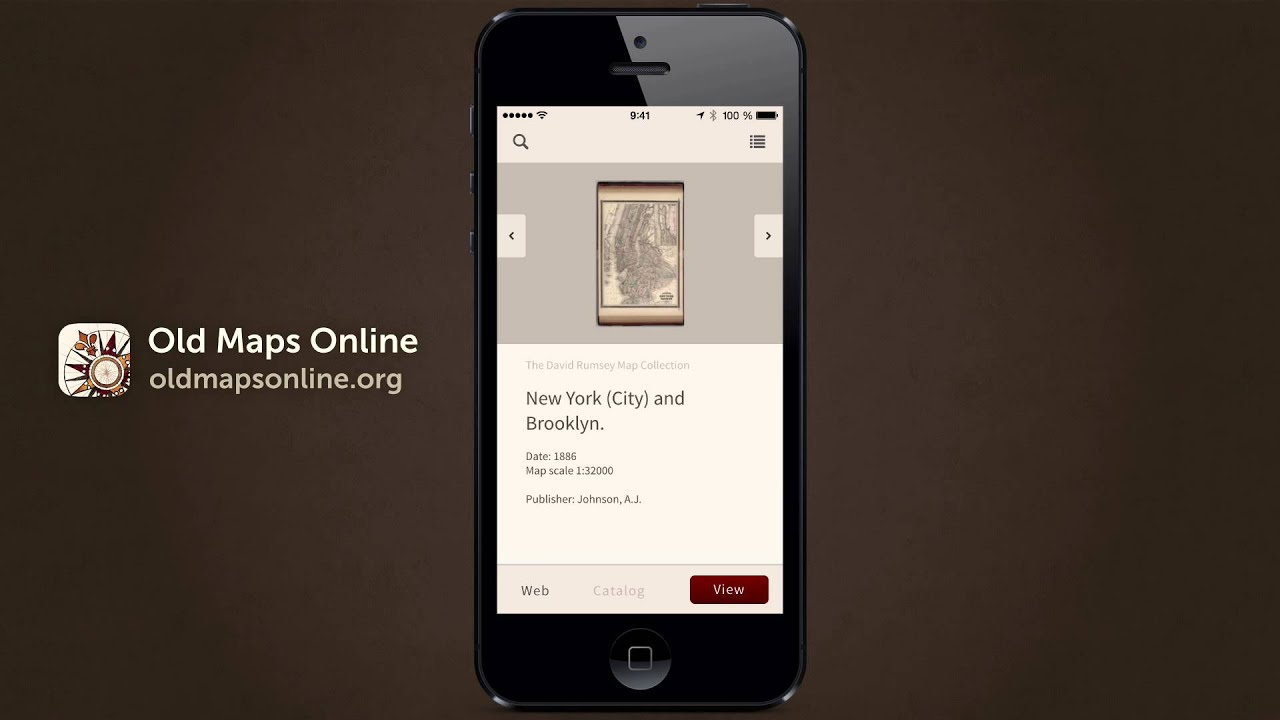 Old Maps Online Mobile App: A touch of history