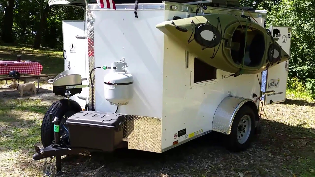 5x8 Cargo Trailer Camper Conversion With Tepui Rooftop