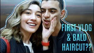 FIRST VLOG & BALD HAIRCUT?? | #Vlog