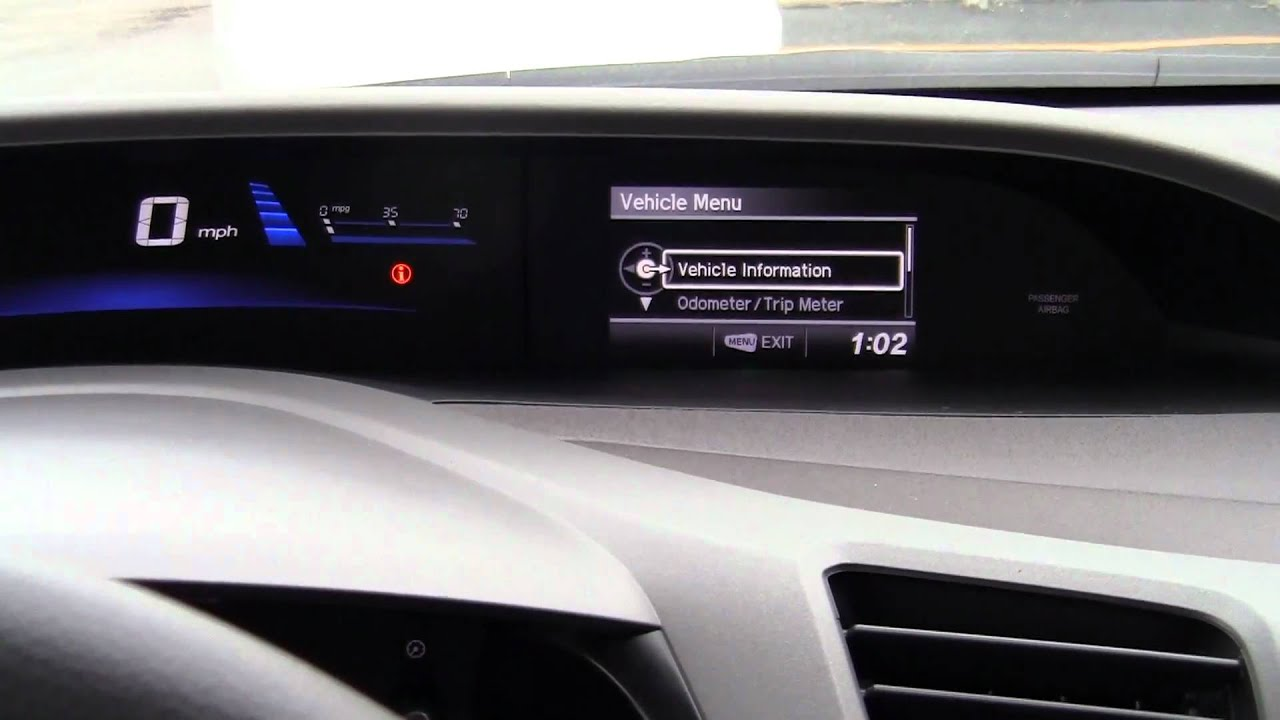 2012 honda civic lx sedan 39 s i mid digital display for What does the econ button do in a honda civic