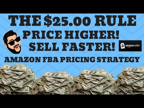 How To Price Your Books For Amazon FBA 2018 - The $25 Dollar Rule To Sell Faster With More Profits!
