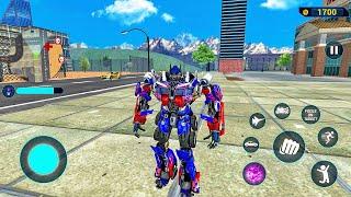 Optimus Prime Multiple Transformation Jet Robot Car Game 2020 - Android Gameplay