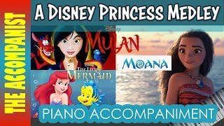 A disney princess medley mulan : reflection | ariel part of your world from the little mermaid moana how far i'll go. i thought i'd try something diffe...
