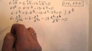 ЕГЭ по математике. Решение показательных  уравнений - 4
