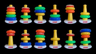 stacking rings the kids picture show fun educational learning video