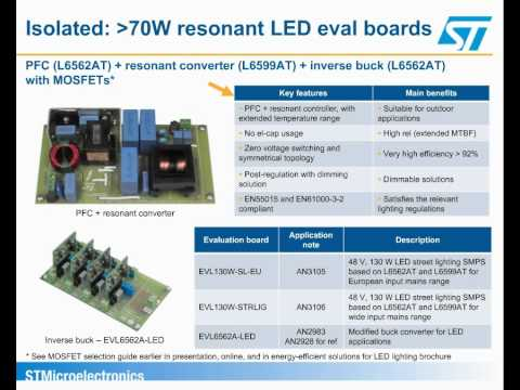 Energy-efficient solutions for offline LED lighting and general illumination (ePresentation)