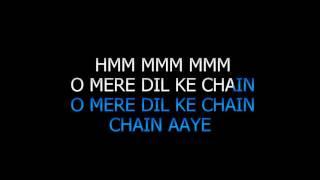 O Mere Dil Ke Chain Karaoke Video Lyrics Sanam Puri High Quality