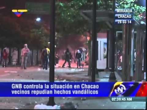 Reporte desde guarimbas violentas en Chacao, sábado 29M, 2:32 AM