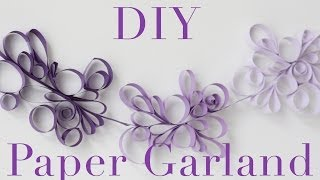 DIY Paper Scroll Garland Tutorial | Decorations that impress!