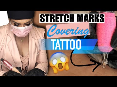 Scar Covering, Scar Tattoo, Stretch Mark Tattoo Camouflage, Best Technique Ever!!!