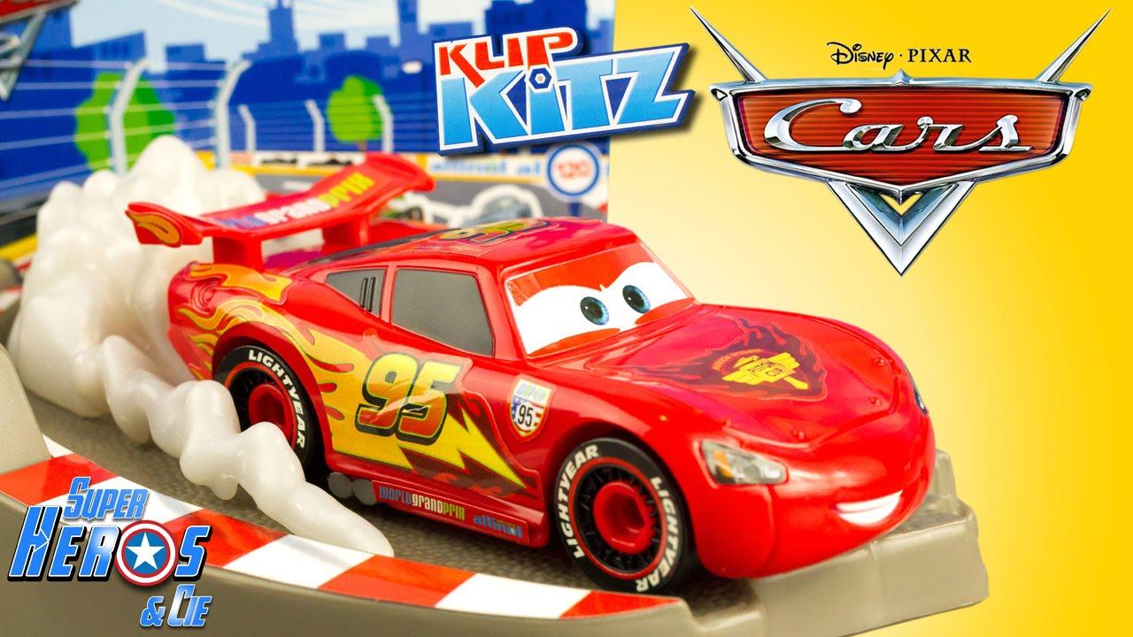 Disney Cars 2 Klip Kitz Flash Mcqueen Jouet A Construire Bricolage Coloriage Review Youtube