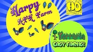 Terraria Easy AFK Harpy Farm | Terraria 1.3 Tutorial