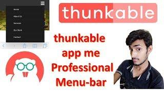 Ab Banaye Profesyonel thunkable uygulama bana Menü çubuğu Android Hintçe |içinde thunkable uygulaması Yapmak