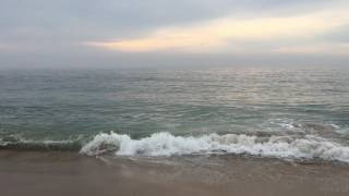 Early morning ocean on the 4th of July