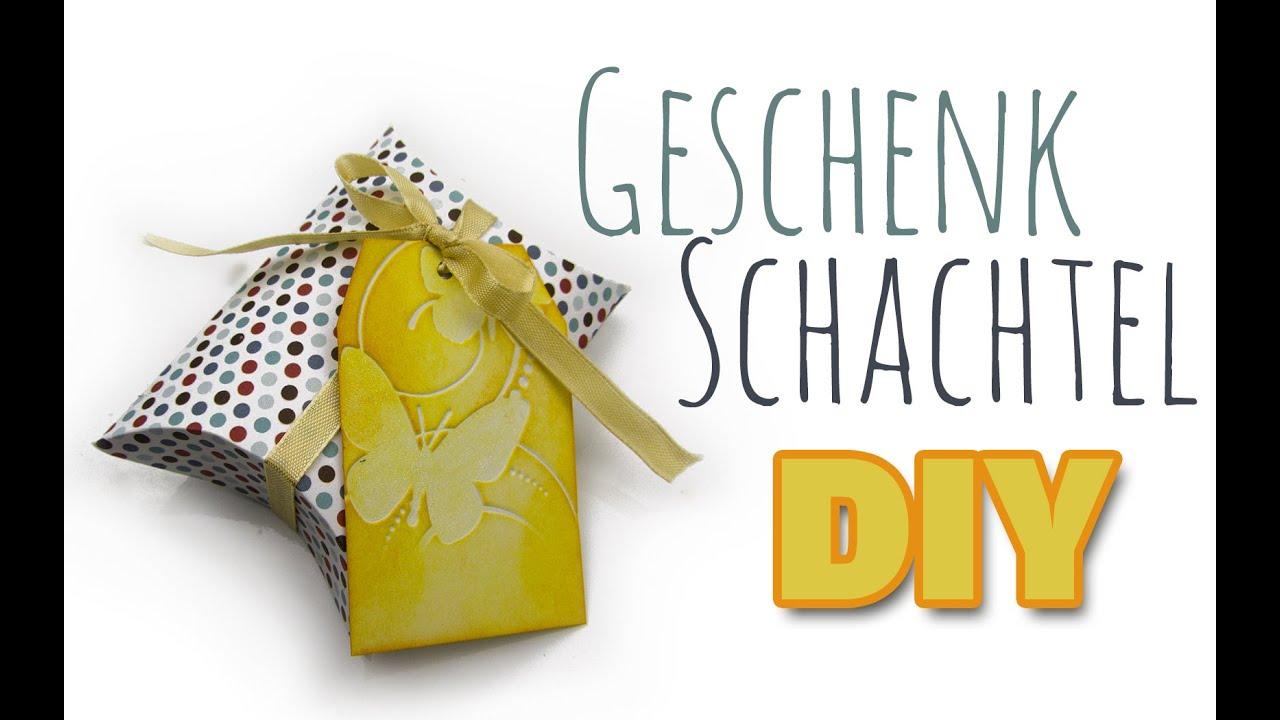 Geschenke-Verpackung: Kissen Schachtel | DIY Geschenk Ideen #08 ...