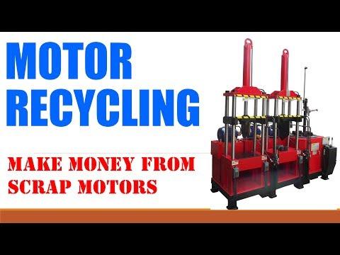 Electric motor recycling machine mw 808ii motor processing for Electric motor recycling machine