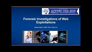 Forensic Investigations of Web Exploitations - Ondrej Krehel