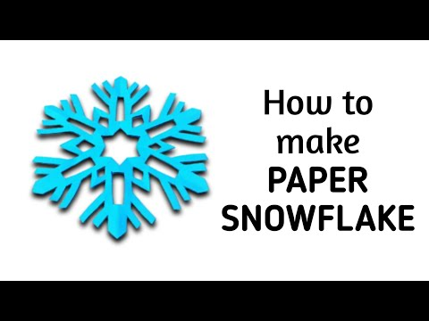 How to make a kirigami paper snowflake - 2 | Kirigami / Paper Cutting Craft, Videos and Tutorials.