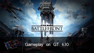 STAR WARS Battlefront Beta Gameplay on GT 630