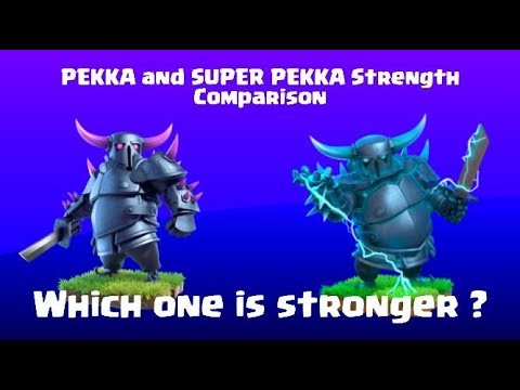 PEKKA VS SUPER PEKKA | Clash Of Clans