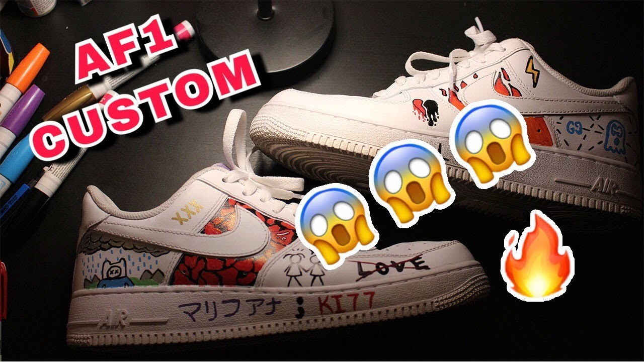 finest selection 8c167 1f7da HOW TO CUSTOMIZE   Air Force 1 s w  Sharpie