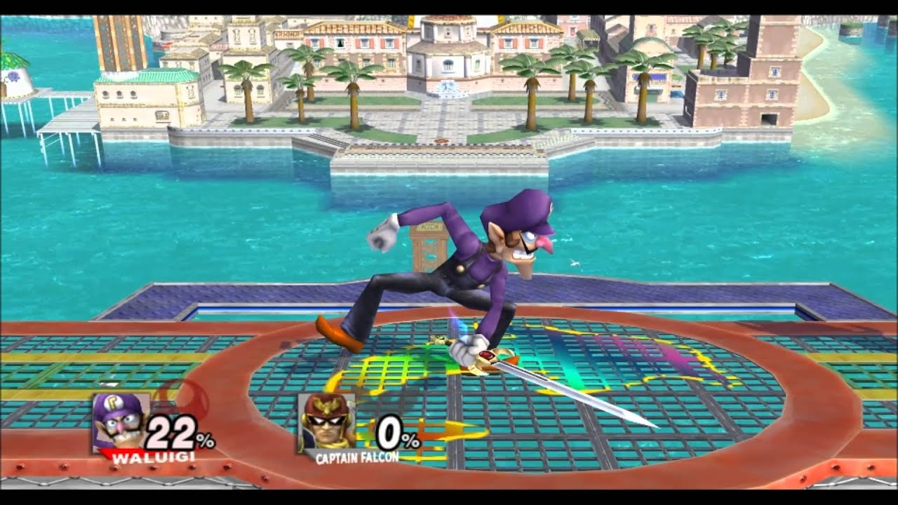 Image result for waluigi super smash bros