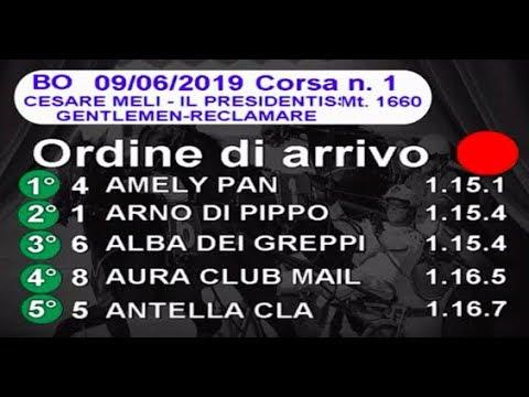 2019 06 09   Corsa 1   Metri 1660   Premio Cesare Meli