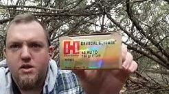 Hornady Critical Defense .45 ACP 185 Grain HP Ammo Test