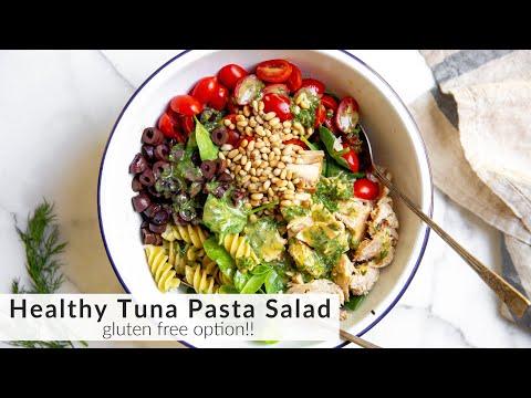 BEST Healthy Tuna Pasta Salad Recipe (Gluten Free Option!)
