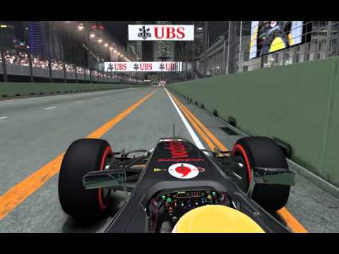 F1 2012 My pole in Marina Bay Singapore Legend no ABS no traction control