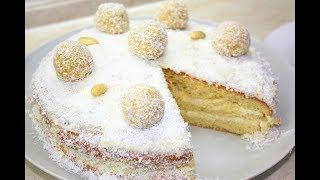 Торт Рафаэлло - облако нежности и удовольствия. Кокосовый торт рецепт