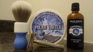 First Canadian Shave Soap Mail Call & SOTD : Yaqi Brush, Polar Vortex, Gillette Monotech