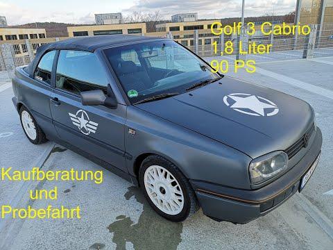 VW Golf 3 Cabrio Kaufberatung, Fahrbericht Und Testbericht