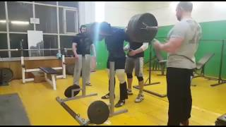 Родэ Денис присед 270 кг на 3, б/э