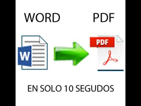 como convertir de word 2013 a pdf sin programas