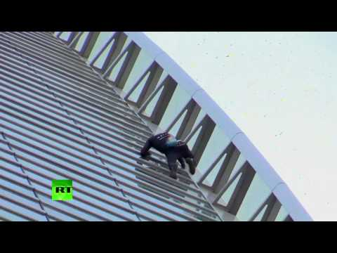 'French Spiderman': Urban climber scales Paris skyscraper without harnesses