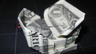 Dollar Origami: Christmas Sleigh / Santa's Sleigh