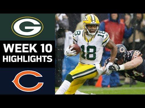 Packers vs. Bears | NFL Week 10 Game Highlights