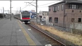 外房線直通京葉線 新茂原駅到着