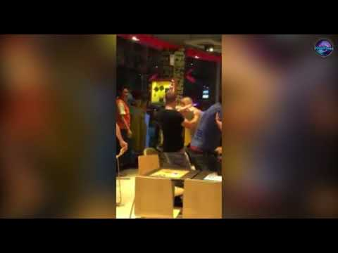 Tourists Fighting In McDonalds In Pattaya