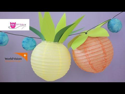 Fruchtlaternen / Obst -Lampions selber basteln – DIY Eule
