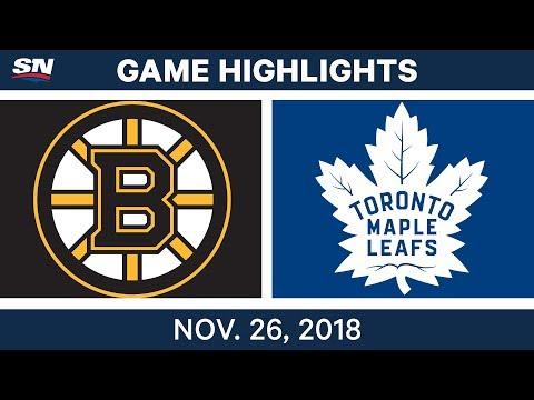 NHL Highlights | Bruins vs. Maple Leafs - Nov 26, 2018