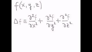 Оператор Лапласа(Определение лапласиана (оператора Лапласа)., 2016-04-06T15:47:43.000Z)