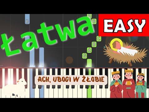 🎹 Ach, ubogi żłobie - Piano Tutorial (łatwa wersja) 🎹