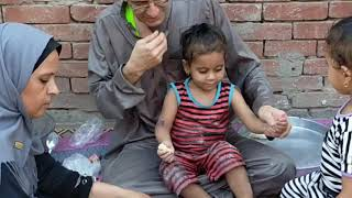 طريقة عمل القراقيش مع الحج سامي وست الكل بالمه زمان🤩اشتركو في قناة ولادي اسمها أكشن وجنش