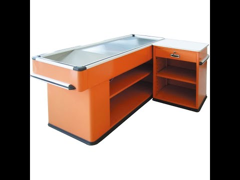Retail Checkout Cash Counter Sales Grocery Store Equipment Retail Fixtures Design Display Stand