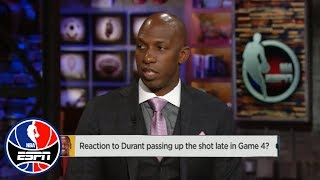 Chauncey Billups on Kevin Durant's final play in Game 4: 'You ARE the option' | NBA Countdown | ESPN