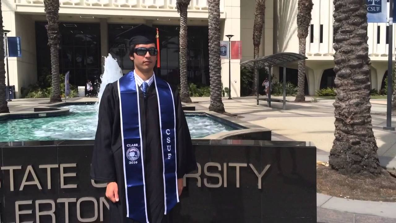 Wearing the Cap and Gown at CSUF - YouTube
