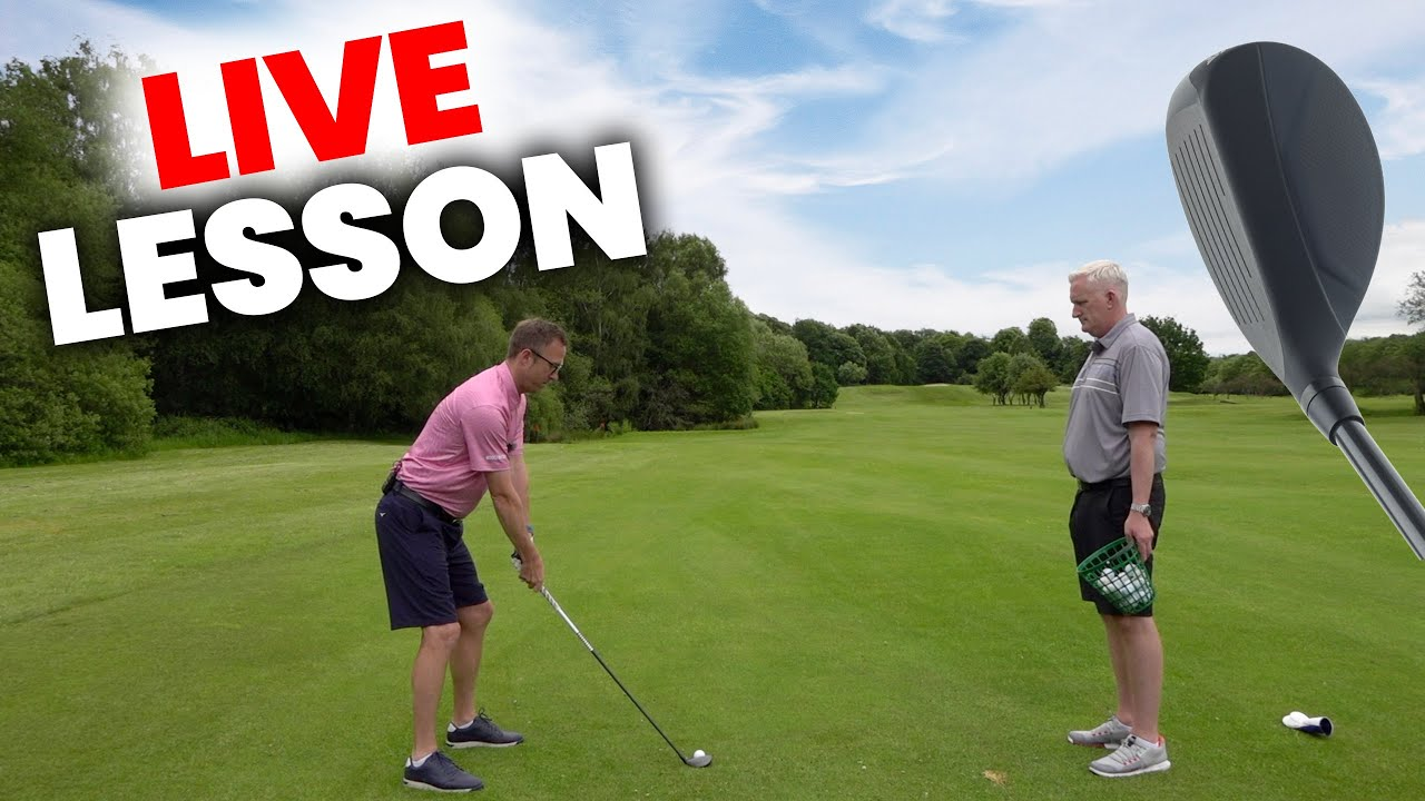 how to hit the HYBRID RESCUE UTILITY golf club every time  - LIVE GOLF LESSON
